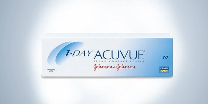Упаковка однодневных линз 1-day acuvue