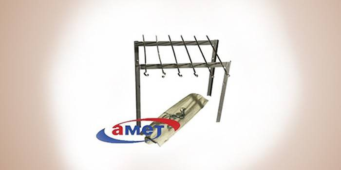Железный мангал от компании Амет