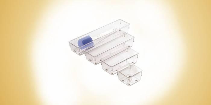 Контейнеры из прозрачного пластика Linus (узкий)
