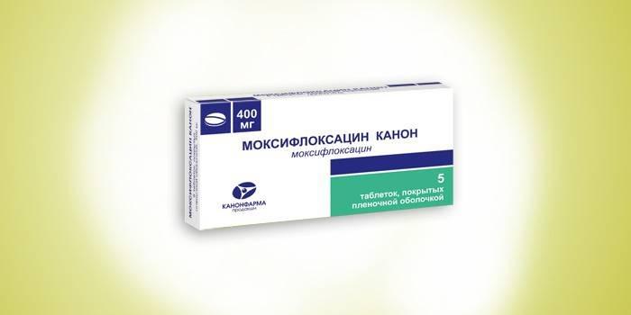 Таблетки Моксифлоксацин