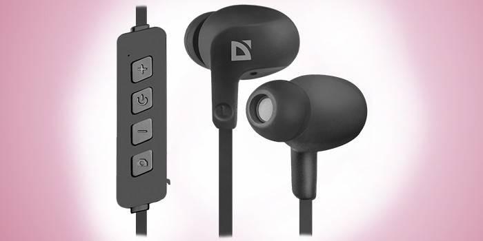 Проводные вакуумные наушники Defender FreeMotion B615 Bluetooth Black