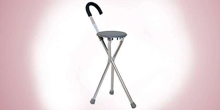 Телескопическая трость-стул, модель KJT916B