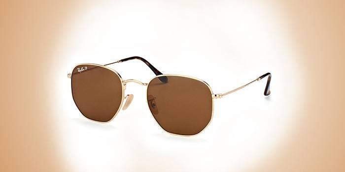 Брендовые очки для мужчин Ray-Ban 3548N Highstreet 001 Hexagonal