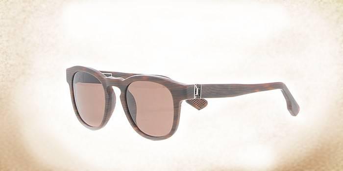 Солнцезащитные очки с пластиковой оправой под дерево KT 500S 04