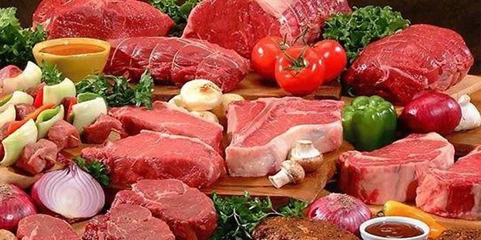 Мясо разных сортов