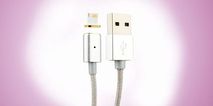 Магнитная usb-зарядка iPhone Lightning COTEetCI M11 NYLON
