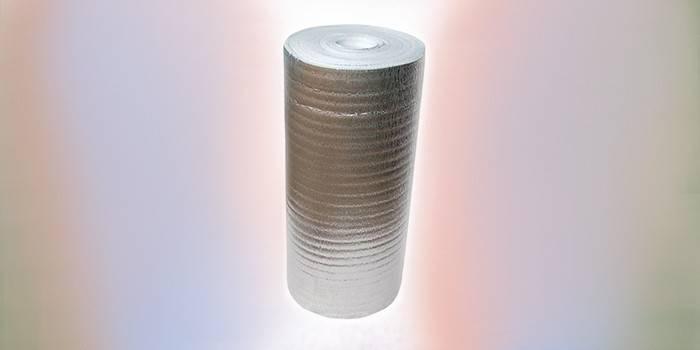 Рулон вспененного полиэтилена с фольгой Максизол АЛ-08