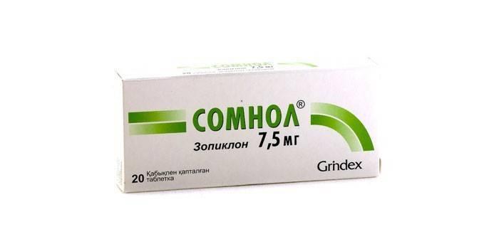 Таблетки Сомнол