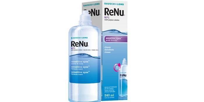 Водно-солевой раствор для линз Bausch + Lomb ReNu MPS