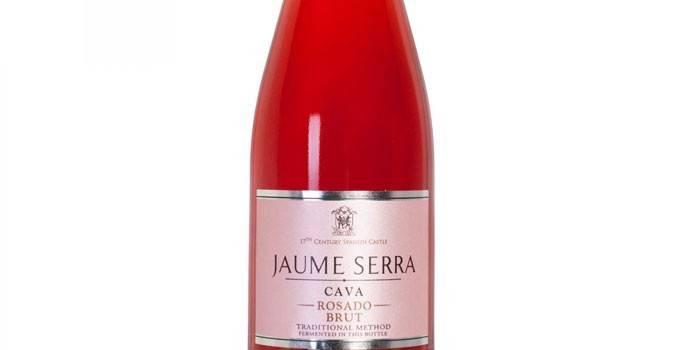 Розовое игристое вино Жауме Серра Росадо