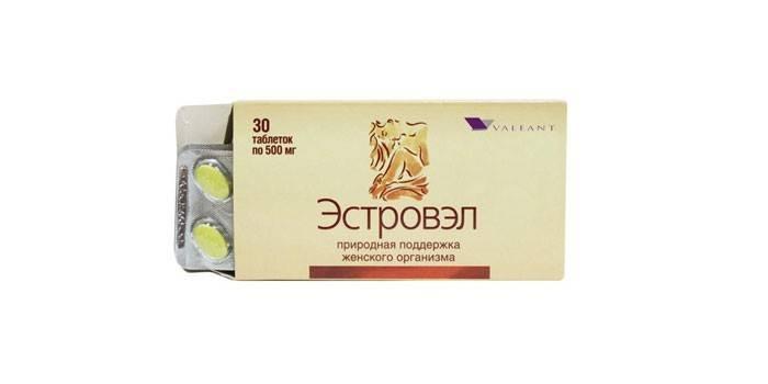 Таблетки Эстровел в упаковке