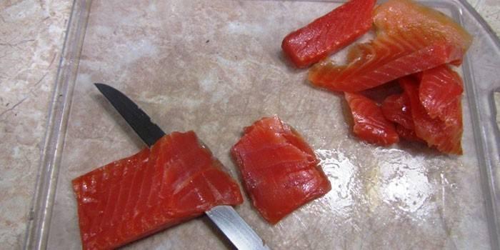 Техника нарезки рыбы