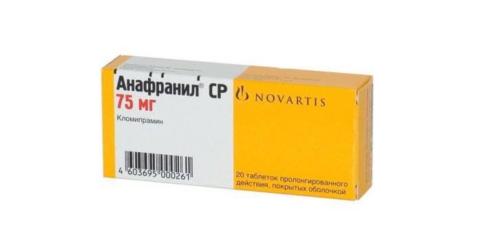Таблетки Анафранил СР