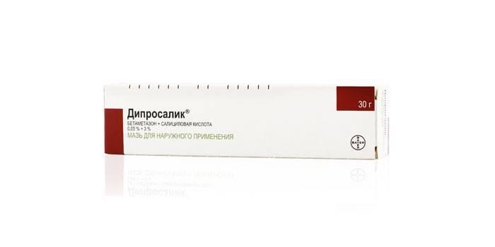 Мазь Дипросалик в упаковке