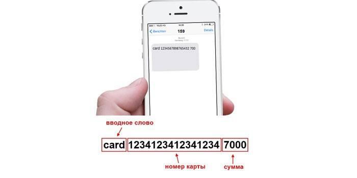 Перевод Теле2 на карту через СМС